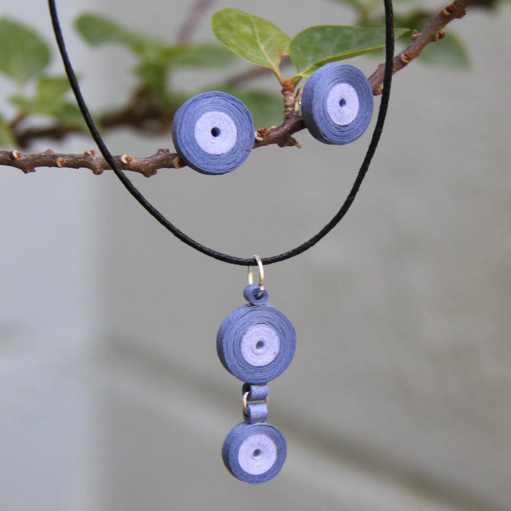 DIY paper quilled circle earrings - Honey's Quilling