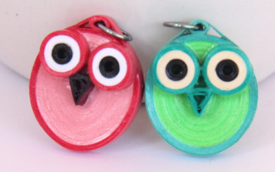 DIY Make Your Own Paper Quilled Owl Jewelry Tutorial