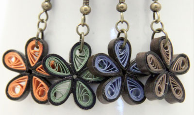 Make Your Own Paper Quilled Daisy Earrings
