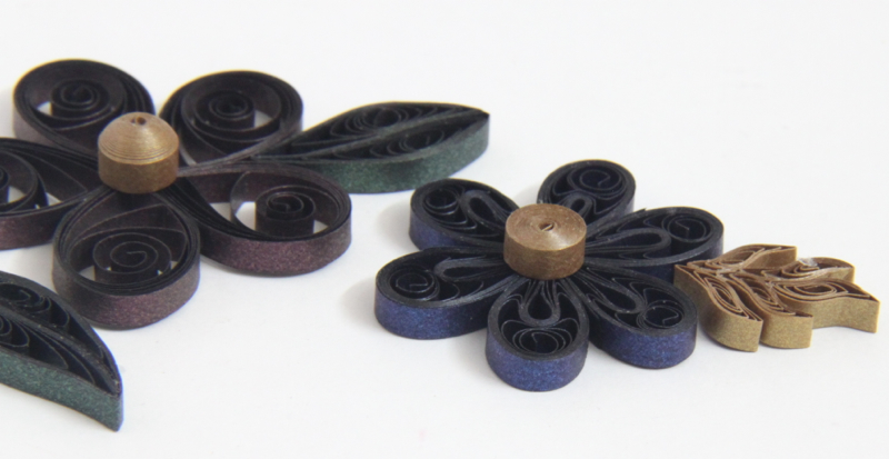 using jeweltone paper from Lake City Craft for your paper quilling design and jewelry