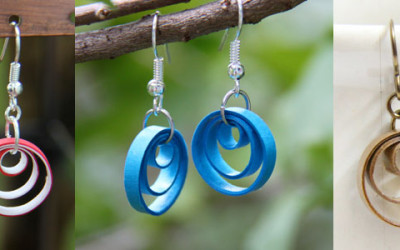 How to Make a Cute Multi Circle Earring with Paper Quilling