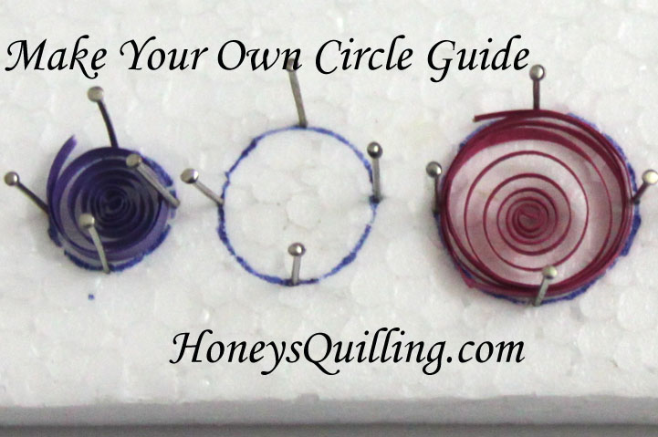 Make your own circle sizing guide or template for paper quilling with this free tutorial from Honey's Quilling