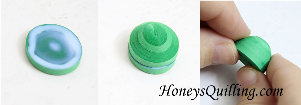 Paper Quilling Tutorial for 3D miniature turtle pendant from Honey's Quil