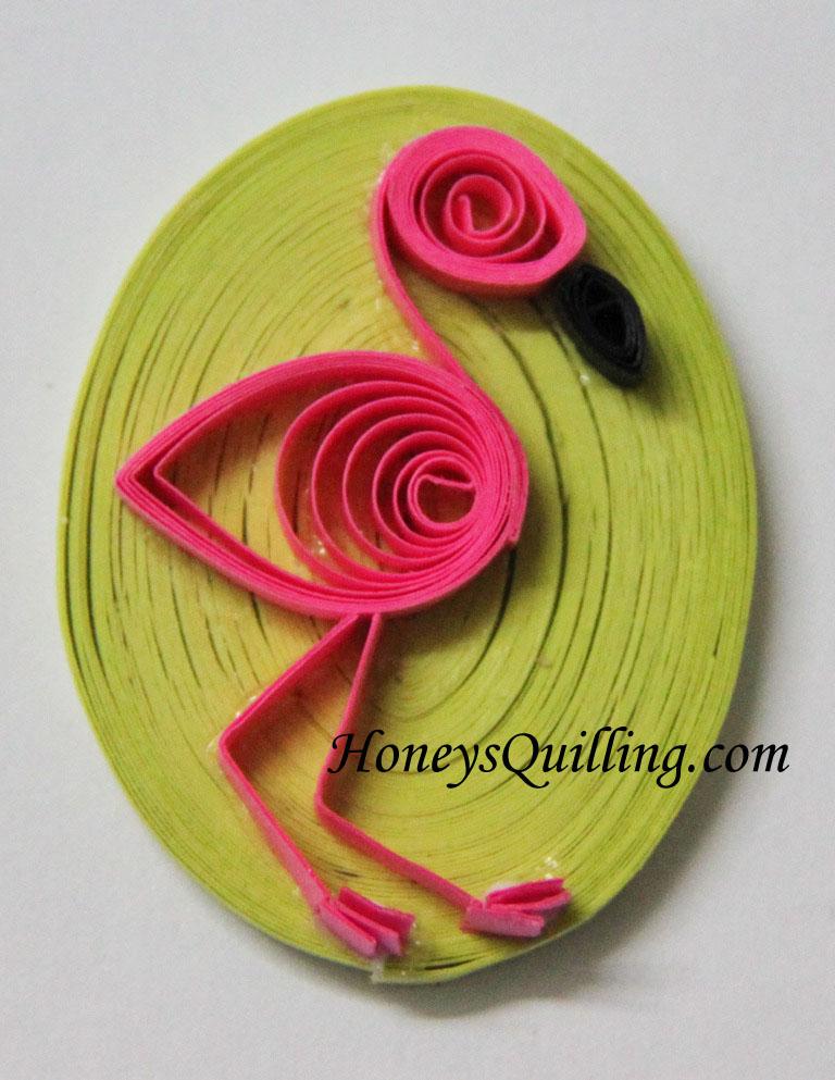 Cute Paper Quilling Designs Paper Quilled Flamingo Design