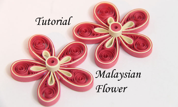 Tutorial for paper quilled malaysian flower honeys quilling mightylinksfo Images
