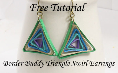 Triangle Swirl Earrings – Free Paper Quilling Tutorial