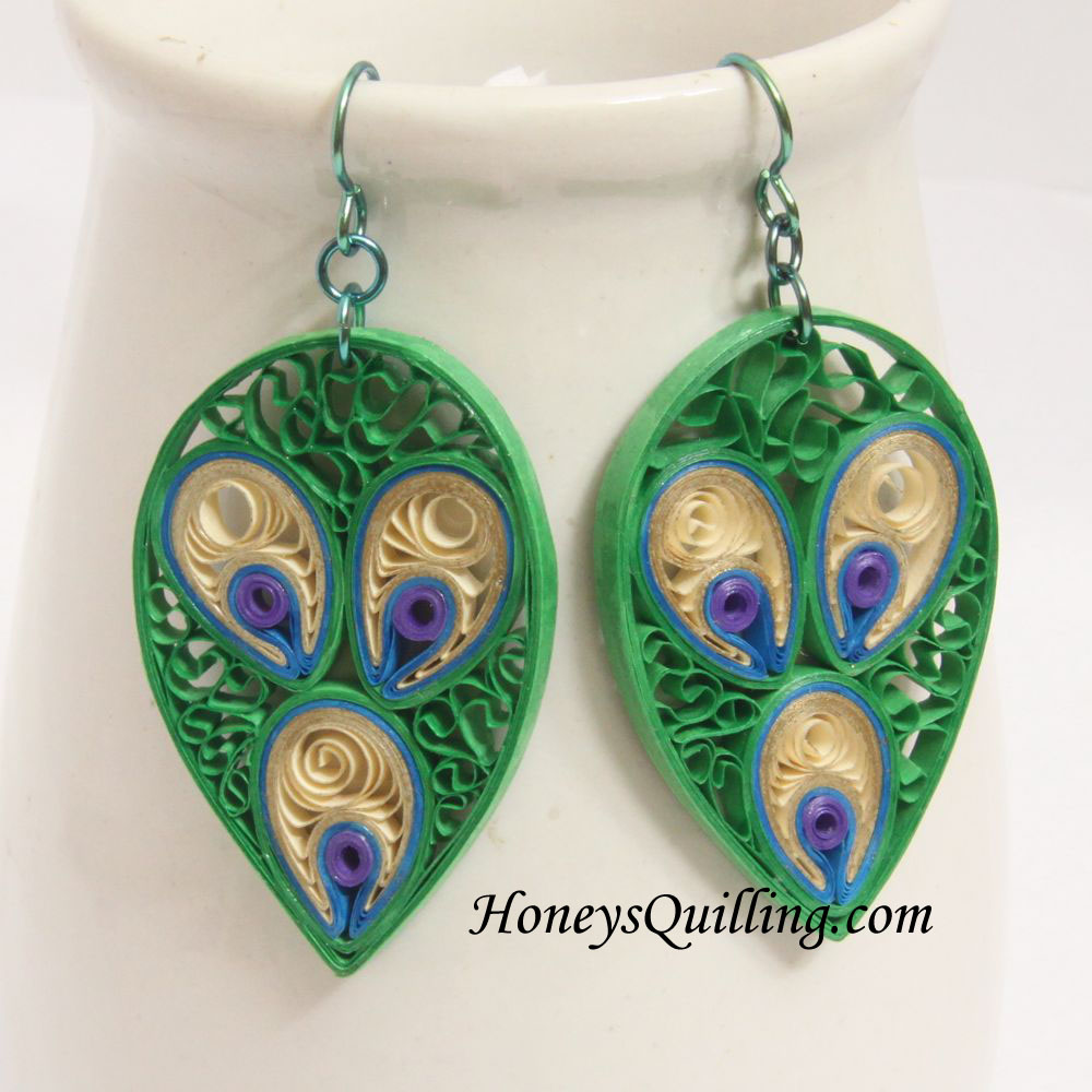 Ring Designs: Quilling Earring Designs