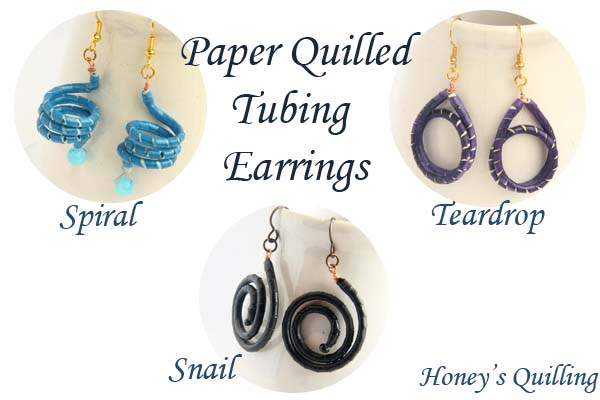 how to make stud earrings with quilling paper