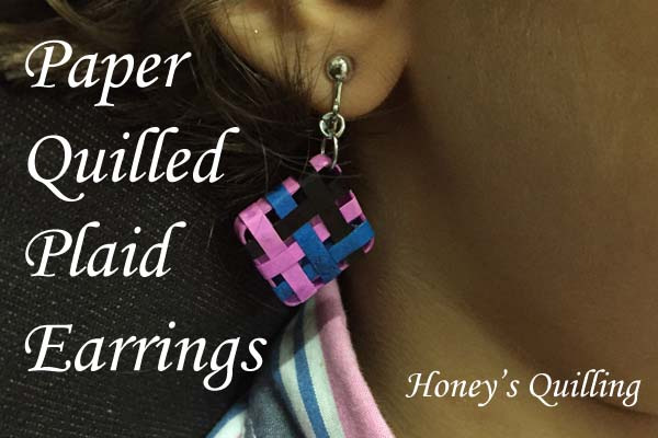 Paper Quilling Plaid Earrings by Honey's Quilling